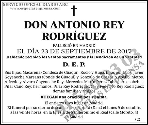 Antonio Rey Rodríguez